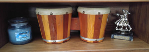 New home for Dad's bongo drums